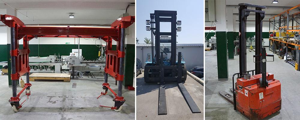 Forklift and Chain Hoist